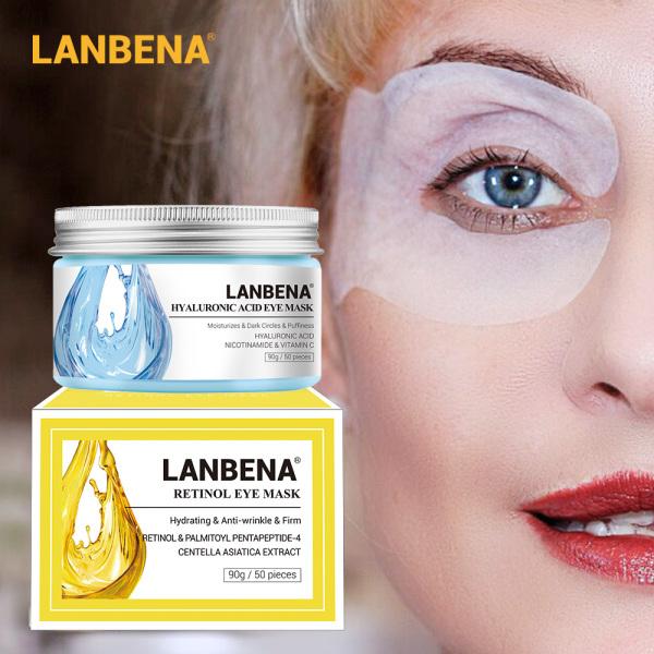 LANBENA Mặt nạ mắt Retinol Serum dưỡng mắt chứa axit hyaluronic Giảm quầng thâm Túi viền mắt Sửa chữa Nuôi dưỡng Làm săn chắc da nhập khẩu