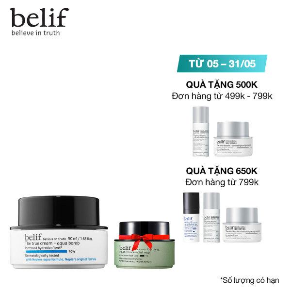Kem cấp ẩm tức thì dạng gel Belif The True Cream Aqua Bomb 50ml