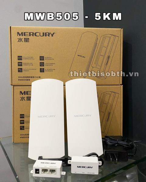 Bảng giá Bộ Thu Phát Wifi Không Dây Ngoài Trời Cho Camera IP Khoảng Cách 5KM- Mercury MWB505 Phong Vũ