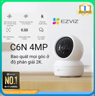 [NHÀ PHÂN PHỐI, BH 2 NĂM, FREESHIP 20K] Camera WIFI Không Dây EZVIZ C6N 4MP 2K HD 1440p H265 xoay 360 , đàm 2 chiều - Bản nâng cấp C6N 1080p thumbnail