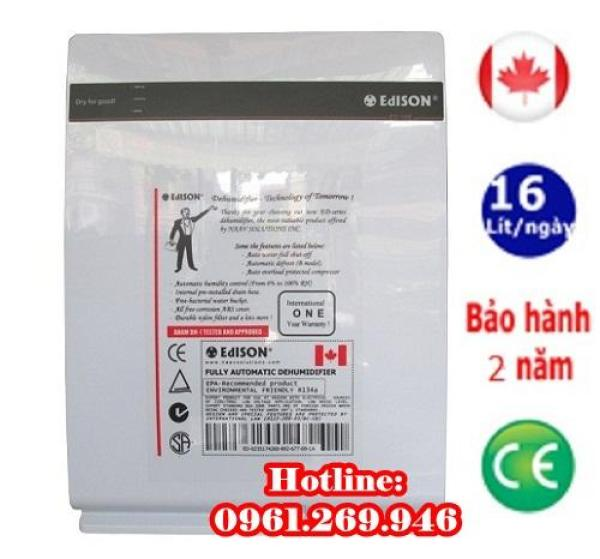 Máy hút ẩm gia đình Edison 16BE công suất 16 lít/ ngày dùng cho phòng khách, phòng ngủ