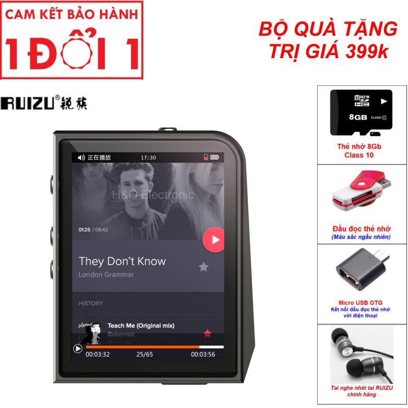 Combo Quà Tặng Trị Giá 399K - Máy nghe nhạc Lossless Ruizu A50 (Công ty nhập khẩu và phân phối trực tiếp) - Máy nghe nhạc MP3 thể thao lossless mini Hifi Ruizu A50 Màn hình 2.5inch - Ruizu A50 Máy nghe nhạc MP3 Lossless cao cấp Ruizu A50