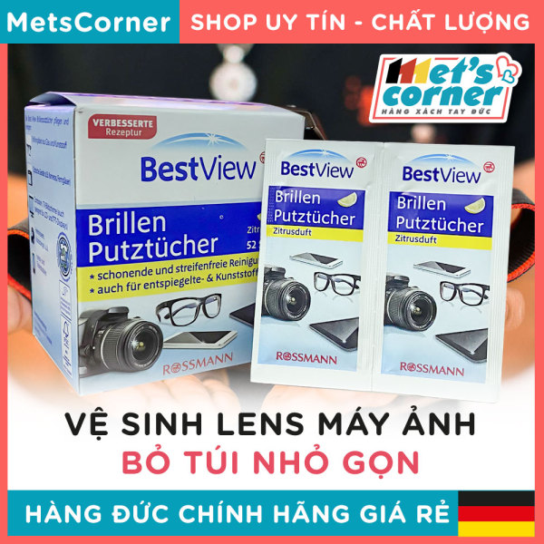Mua [Đức]Giấy lau kính,giấy lau lens máy ảnh, Điện thoại bỏ túi BESTVIEW [52 miếng]- Loại sạch bụi bẩn và mắt kính, chống bám bụi
