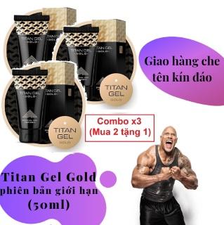 Combo x3 (Mua 2 tặng 1) (Lô mới nhất) Titan Gel Nga GOLD cao cấp phiên bản giới hạn - Gel dành cho nam - hàng chính hãng - tăng kích thước cho cậu bé (Che tên khi giao hàng) thumbnail