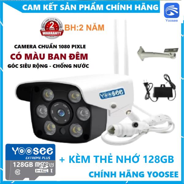 [TÙY CHỌN KÈM THẺ NHỚ 128GB CHÍNH HÃNG - BẢO HÀNH 2 NĂM] Camera Ip Wifi Trong Nhà-Ngoài Trời Yoosee ZQ26-2.0Mpx FullHD -Cài Đặt Tiếng Việt 100%, Hỗ trợ 2 đèn hồng ngoại và 4 đèn LED xem đêm có Màu, Đàm thoại 2 chiều-Cực Nét