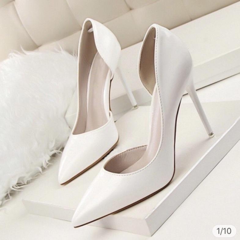 Giày Cao Gót Hở Eo 9P - VNXK Cao Cấp - Full Size 34-40 giá rẻ