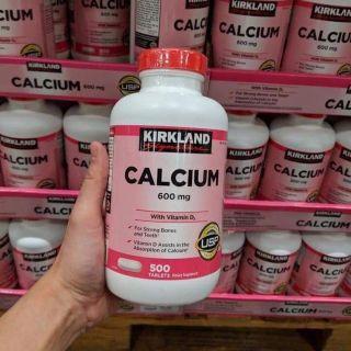 Viên uống hỗ trợ bổ sung Canxi Calcium 600mg của Kirkland 500 viên thumbnail