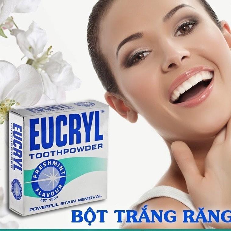Bột Giúp Trắng Răng EuCryl 50g từ Anh Quốc cao cấp