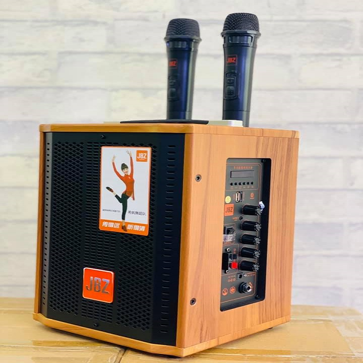 [Xả Kho Thanh Lý Hàng Bãi] Loa kéo di động giá rẻ JBZ J6 kèm theo 2 micro UHF không dây, Loa kéo JBZ J6 karaoke di động bass 1,6 tấc, Loa 1 bass và 1 treble phát âm thanh trong trẻo, Cực Chất , dây jack nối 3.5mm, kết nối Bluetooth Siêu Nhanh