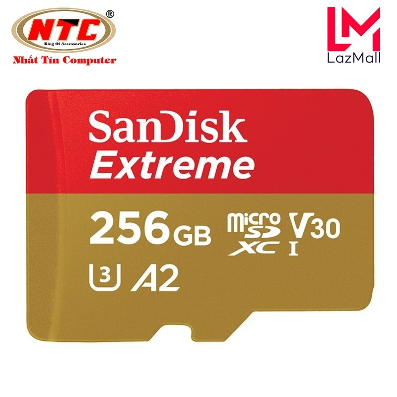 Thẻ Nhớ MicroSDXC SanDisk Extreme 256GB V30 U3 4K A2 R160MB/s W90MB/s - No Adapter (Vàng)