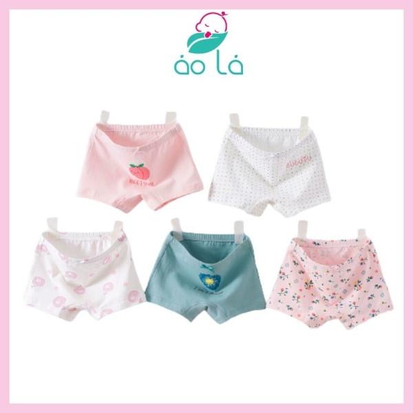 Nơi bán Combo quần chip đùi cotton cho bé gái Áo Lá Homewear, quần lót bé gái