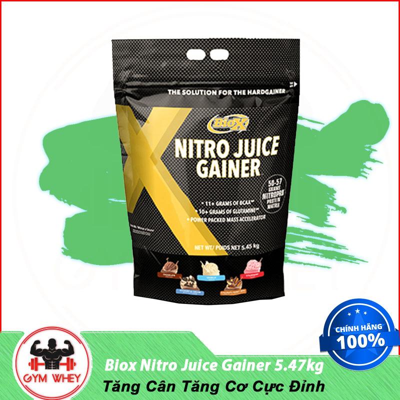 Sữa Dinh Dưỡng Tăng Cân Tăng Cơ BIOX NITRO JUICE GAINER 5.45KG