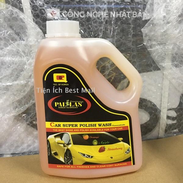 Nước rửa xe đậm đặc,Dung dịch rửa xe siêu bóng PALLAS super polish wash concentrate 1.5L bảo vệ, bảo dưỡng mặt sơn xe hơi, ô tô, xe tải, xe khách P 1502