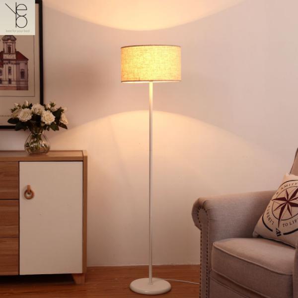 Đèn Cây Đứng Phòng Khách, Phòng Ngủ, Dùng Làm Đèn Sàn Trang Trí Nội Thất, Bóng Led Ánh Sáng Vàng, Chao Vải - YOBE D4