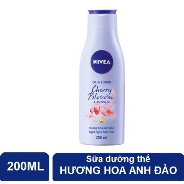 (HSD 11/2021) Sữa Dưỡng Thể Hương Hoa Anh Đào Nivea 200ml nhập khẩu