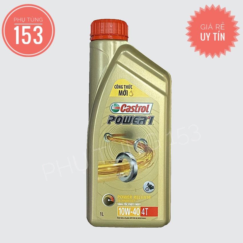 Nhớt CASTROL POWER1 4T 10W-40 (1 Lít) - Dầu Nhớt Cho Xe Số - PHỤ TÙNG 153 Giá Siêu Cạnh Tranh