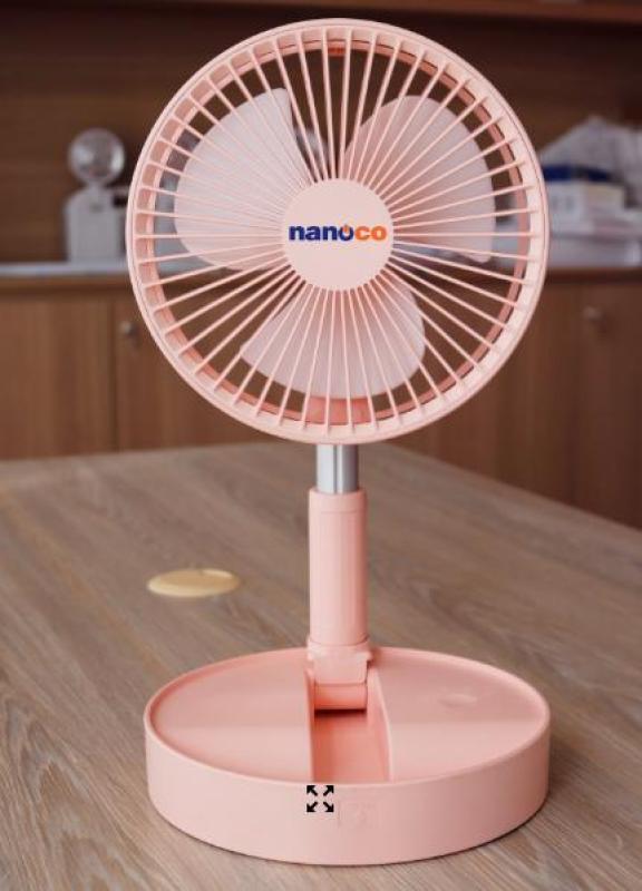 Quạt Sạc Điện Gấp Gọn Nanoco NFF1617W