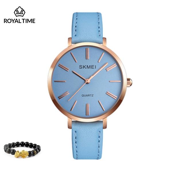 Đồng hồ thời trang  nữ SKMEI 1397 chính hãng dây da cao cấp SK1397.04S - Fullbox - Tặng gói bảo hành 12 tháng - tặng vòng tay cao cấp - gói hàng cẩn thận đúng mẫu