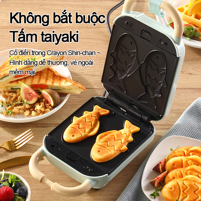 [Giá rẻ toàn cầu]Máy nướng bánh mì, bánh mì sandwich, máy làm bánh quế, máy làm bánh mì mini YD-518S chính hãng, dễ dàng giải quyết bữa sáng mỗi ngày (thay hàng chính hãng 1 lần trong 30 ngày, bảo hành 18 tháng)-[bảo hành Trao đổi 1-1]