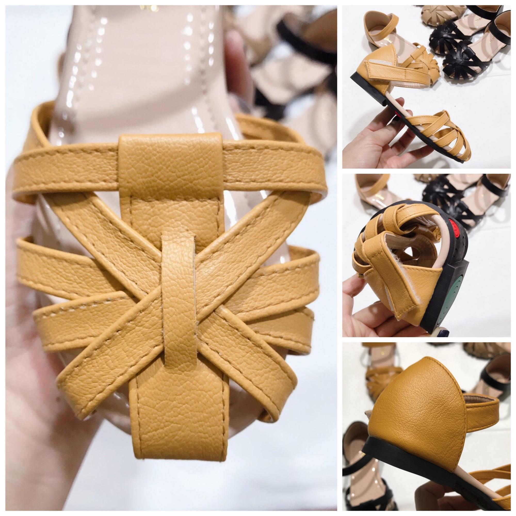 Giá bán Sandal cho bé gái 00226 sz25-35 Màu be vàng