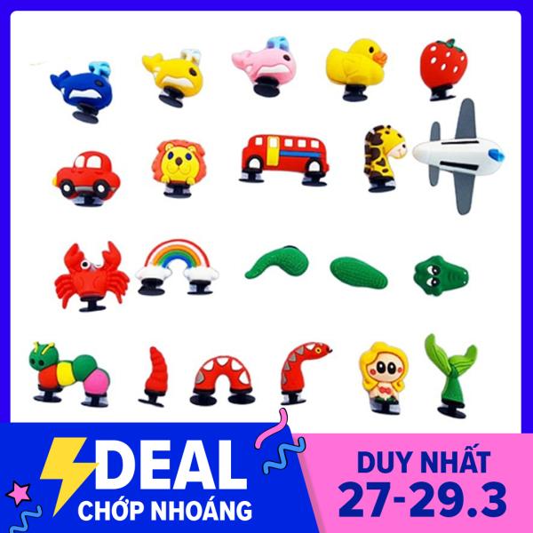 Giá bán jibbitz cài dép cross JB13 jibbitz charm icon sticker cute LOẠI 3D