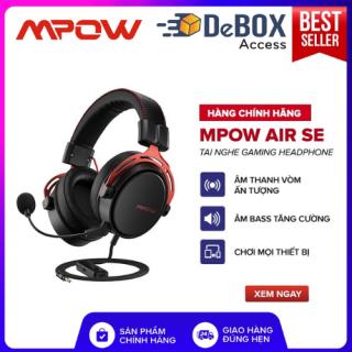 Tai Nghe Gaming MPOW Air SE BH439A Âm Thanh Vòm 360 Độ, Mic Chống Ồn, Đệm Da Cao Cấp OverEar - Chính hãng BH 24 Tháng thumbnail