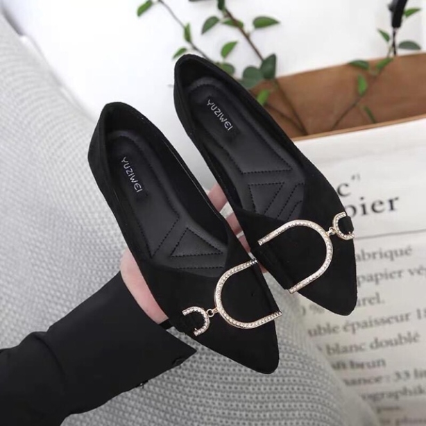 giày búp bê / giày bệt nữ / giày nữ mũi nhọn có dễ đi phù hợp nhiều hoàn cảnh ( Bệt khóa D) giá rẻ