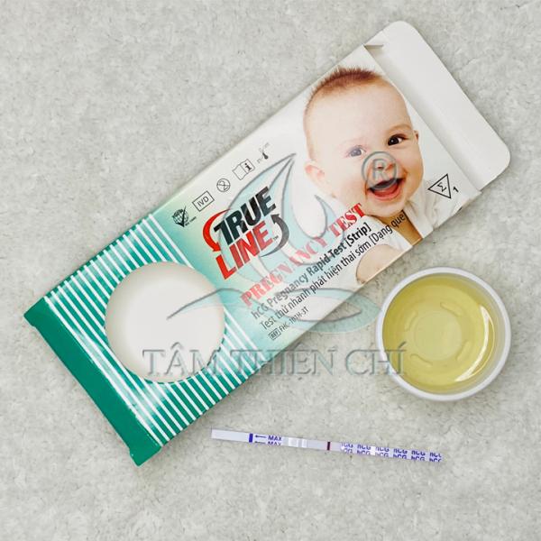 Que thử thai kết quả chính xác TRUELINE hCG hộp 1 test cao cấp