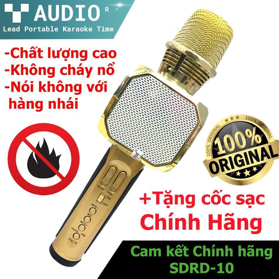 Mic Hát Karaoke Bluetooth Không Dây SD-10 - Kèm Loa- Âm vang - Ấm - Tặng 1 dây sạc nhanh 25K - mic hát karaoke cầm tay mini - micro hát trên xe hơi - mic hát karaoke hay nhất hiện nay. Bảo Hành 1 đổi 1