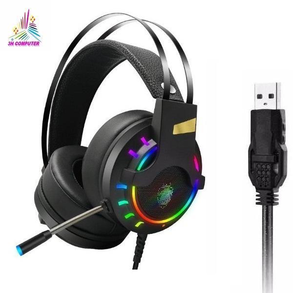 Bảng giá [HCM][RẺ VÔ ĐỊCH] Tai Nghe Chuyên Game K3 7.1 USB LED RGB Siêu Đẹp Âm Siêu Hay Tai nghe tai nghe gaming tai nghe chụp tai Tai Nghe Game Thủ K3 (7.1 Virtual Surround Sound) Chơi PUBG LOL-3HCOMPUTER Phong Vũ