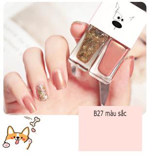 Sơn móng tay combo 2 tông màu xinh xắn, không thấm nước, lâu trôi, phong cách Hàn Quốc thumbnail