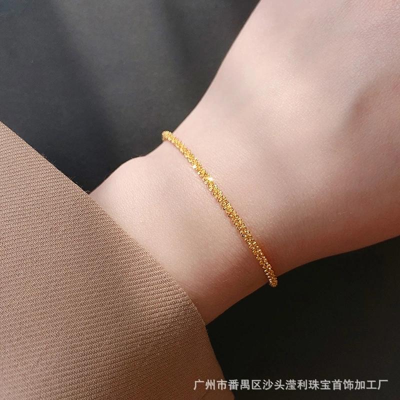 Vòng tay, Lắc tay titan nữ óng ánh trang sức titan cao cấp siêu bền màu, không han gỉ, không dị ứng - Trang sức MTJ