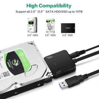Bộ Chuyển Đổi EL SATA Sang USB Bộ Chuyển Đổi Cáp USB 3.0 Sang Sata 3 Cho Ổ Cứng 2,5 Inch 3,5 Inch SSD Ổ Đĩa Cứng Bộ Chuyển Đổi USB Sata, Chất Lượng Hkgh thumbnail