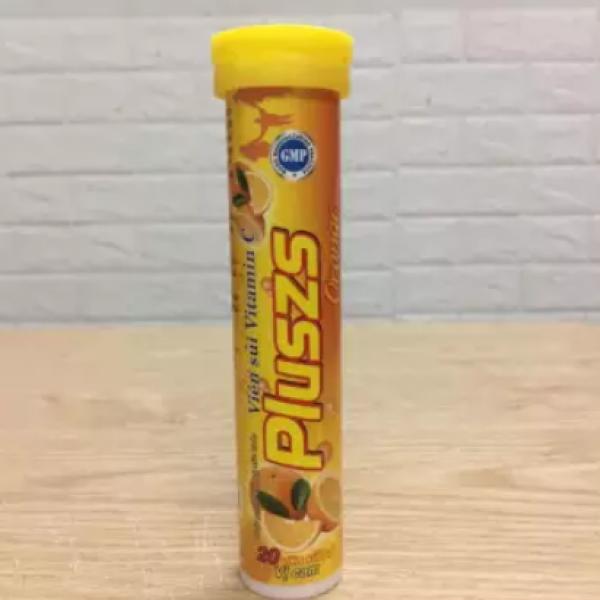Viên Sủi PLuszs Vitamin C - Hương Cam - Mỗi Tuýp là 20 viên