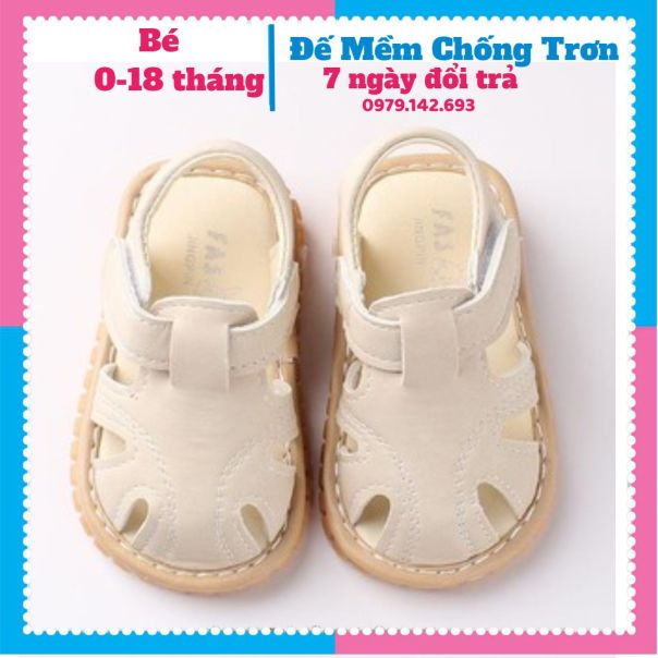 Dép Tập Đi Giày Tập Đi Cho Bé Đế Mềm Chống Trượt Phát Tiếng Kêu cho bé 0 đến 4 tuổi giá rẻ