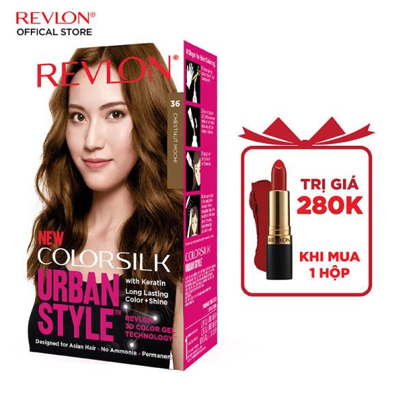 [Tặng kèm son lì siêu mịn] Thuốc nhuộm Revlon Colorsilk Urban Style màu tóc trendy bóng mượt và óng ánh (150ml)