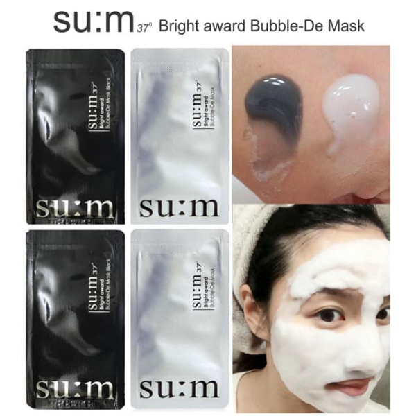 Mặt nạ sủi bọt thải độc Sum37 Bright Award Bubble-De Mask.