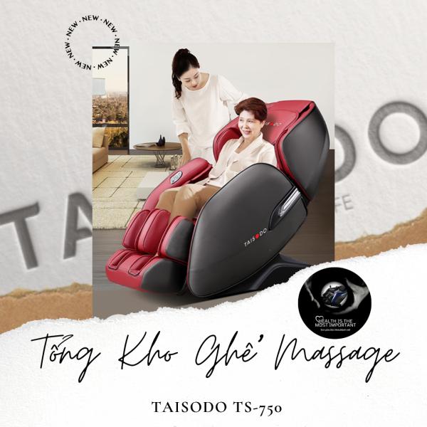 [Model 2021] Ghế massage TAISODO TS-750 liên động tự động massage toàn thân thời thượng quý phái trị liệu Nhật Bản - Tự hào thương hiệu TAISODO