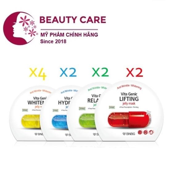 Combo 10 mặt nạ dưỡng da chuyên sâu BNBG Vita Genic Jelly Mask 30ml nhập khẩu