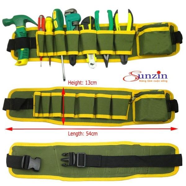 Thắt lưng kiêm túi đựng đồ 9 ngăn dành cho thợ điện, thợ mộc...(màu xanh)
