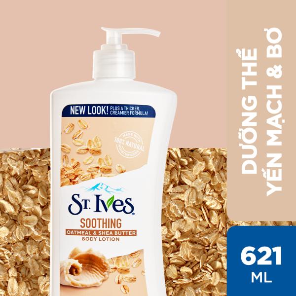 Sữa dưỡng thể ST.IVES Yến Mạch và Bơ 621ml