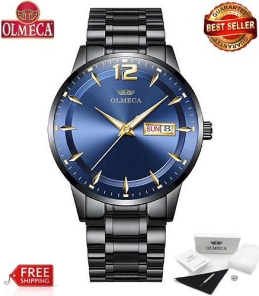 Đồng hồ Olmeca nam dây thép siêu đẹp 0879 (fullbox)
