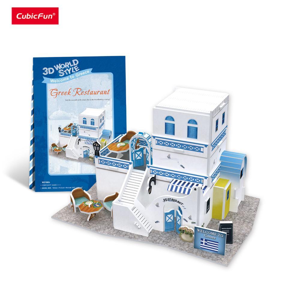 Offer Ưu Đãi Mô Hình Lắp Ráp 3D CubicFun Nhà Hàng ( Hy Lạp) W3166h
