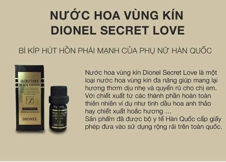 Nước hoa dành cho cô bé - Nước hoa vùng kín Dionel Secret Love Black 5ml