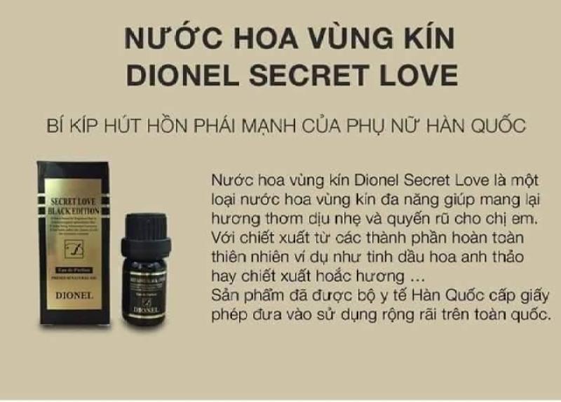 Nước hoa dành cho cô bé - Nước hoa vùng kín Dionel Secret Love Black 5ml nhập khẩu