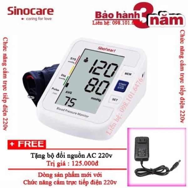 Máy đo huyết áp bắp tay Sinoheart BA-801 - Sinocare Công nghệ Đức + Tặng củ sạc 220v