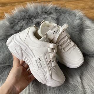 Giày thể thao nữ HAPU đế cao da đẹp S15 siêu hot , mới nhất 2021 (trắng, kem) thumbnail