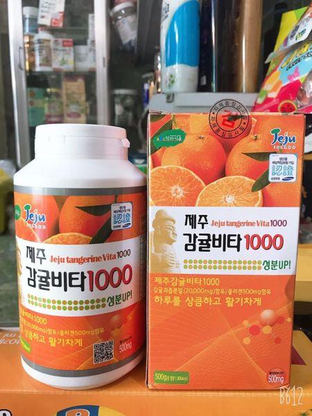 VIÊN NGẬM VITAMIN C NGUYÊN CHẤT ĐẢO JEJU KOREA 500G CHÍNH HÃNG - TĂNG SỨC ĐỀ KHÁNG CHO CƠ THỂ - 5666