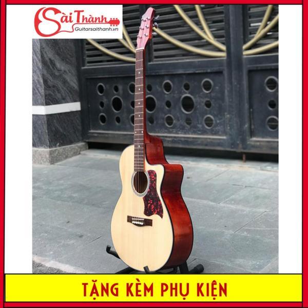Đàn guitar Acoustic khóa inox chống gỉ cực tốt, action cực thấp, bấm nhẹ không đau tay - Bảo hành 1 năm