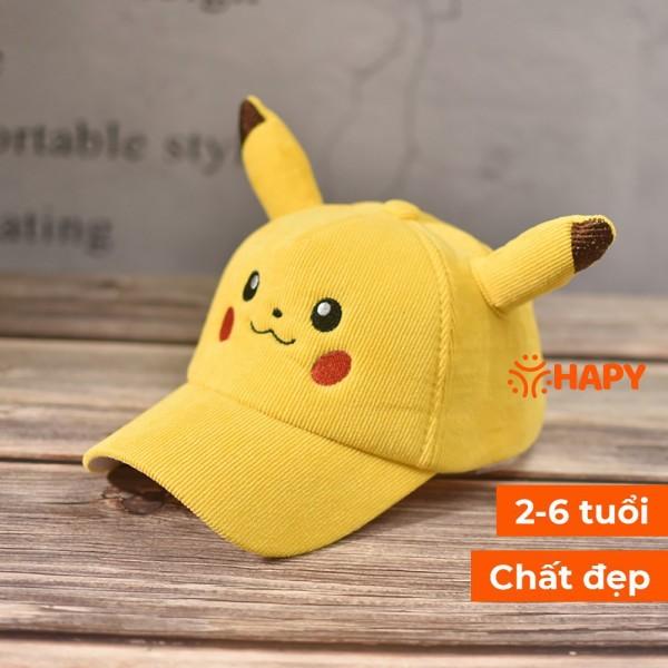 Giá bán Mũ Lưỡi Trai - Mũ Lưỡi Trai Pikachu Cho Bé Từ 2-6 Tuổi